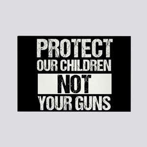 Protect Kids Not Guns Rectangle Magnet